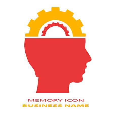 mente humana: Icono cerebro Memoria