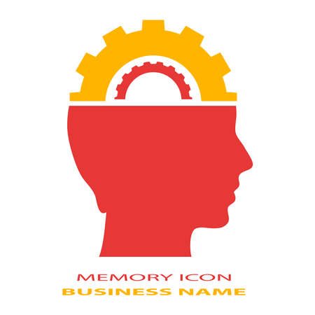 Memory brain icon Vector