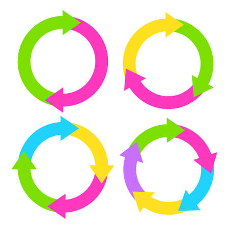 circle arrows: Process diagram illustrations