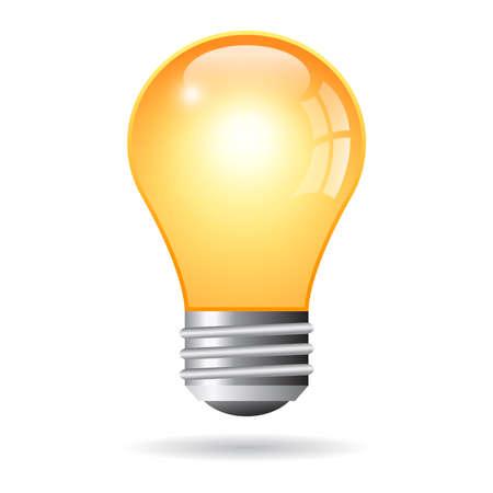 yellow bulb: Light bulb illustration