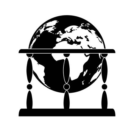 Antique globe icon Vector