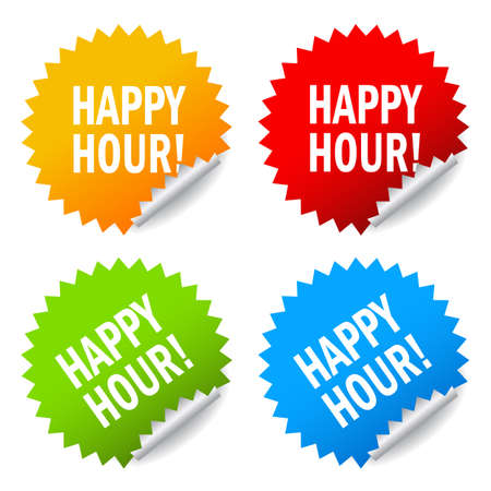 Happy hour icon Vector