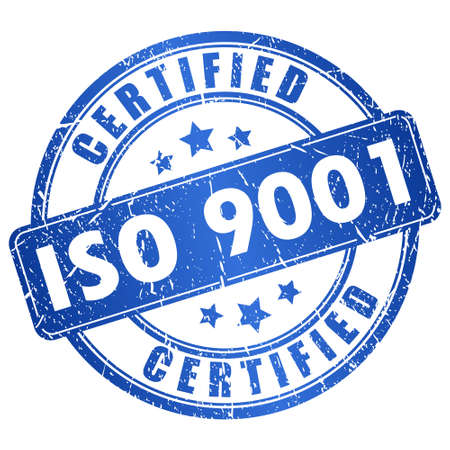 Iso 9001 certified icon Vector
