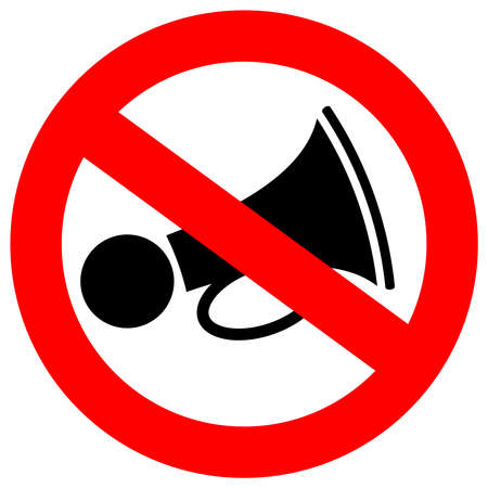 No loud sound sign Vector