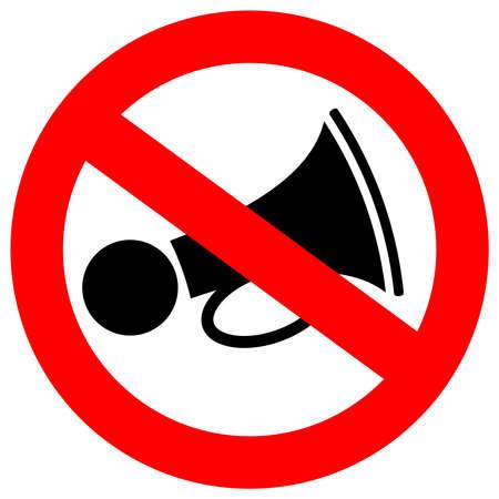 sounds: No loud sound sign