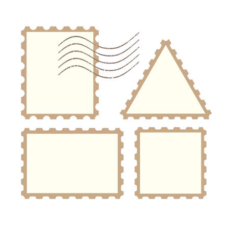 old square: Vector post stamps