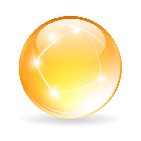 Vektor-Glaskugel Standard-Bild - 28054793