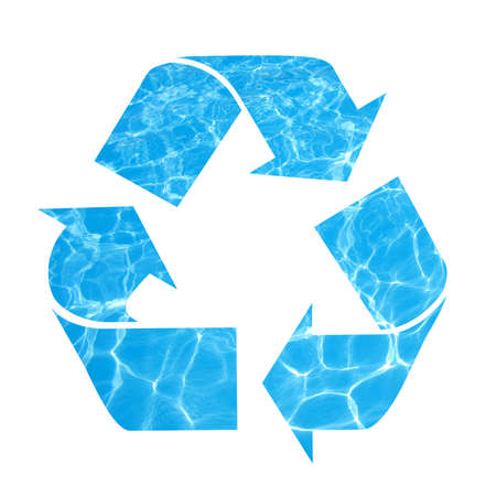 Save water, recycle symbol photo
