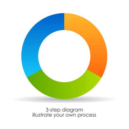 Three step diagram Vector