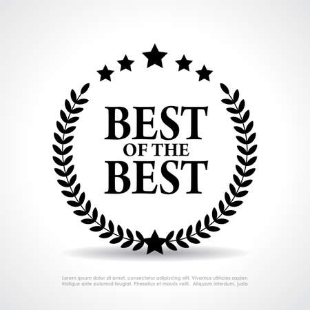 Best of the best icon Illustration