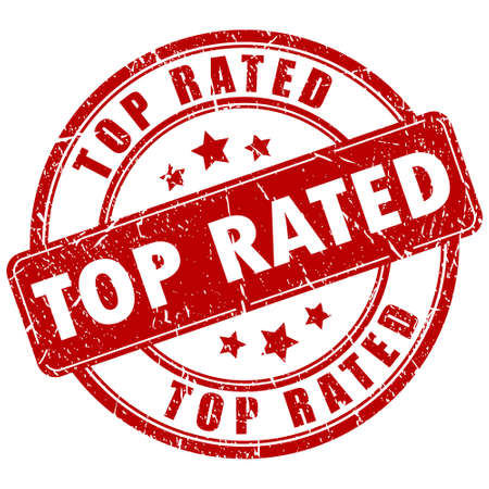rated: Top rated vector stamp Illustration