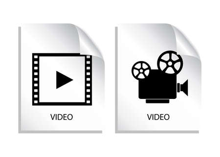 cinematograph: Video icon Illustration