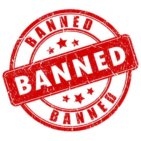 Banned vector stamp Vector