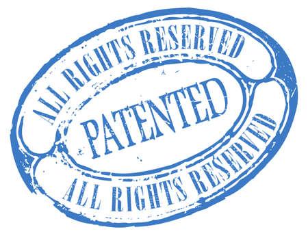 plagiarism: Patented stamp Illustration
