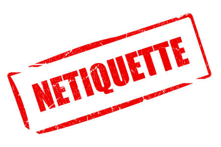 Netiquette stamp photo