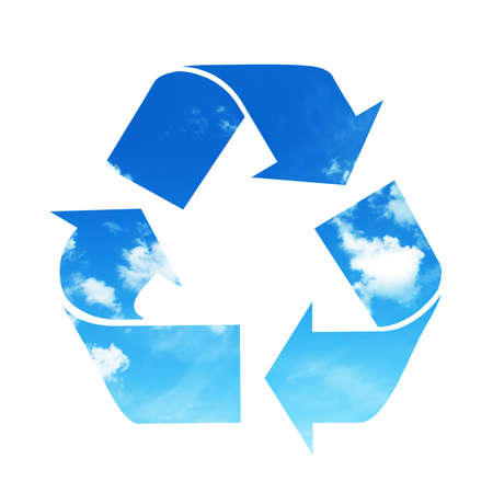clean air: Recycle sky symbol Stock Photo