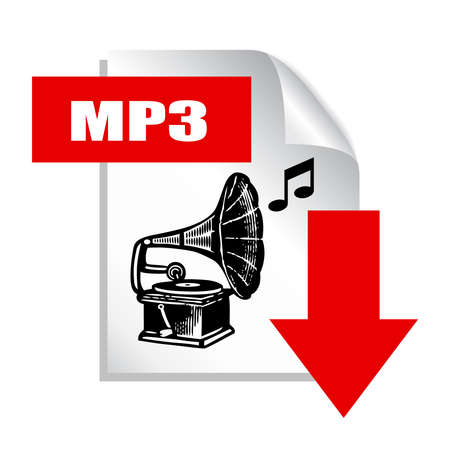 podcasting: Mp3 download icon