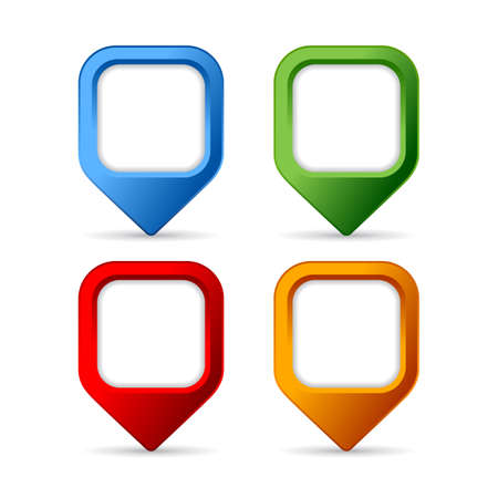 Square pin buttons Vector
