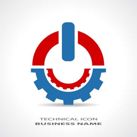 抽象的な技術的なロゴ  イラスト・ベクター素材