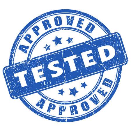 テストおよび承認済みのスタンプ