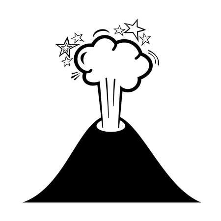 ausbrechen: Volcano Symbol Illustration