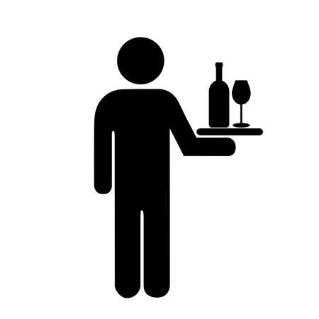 alcohol server: Waiter icon