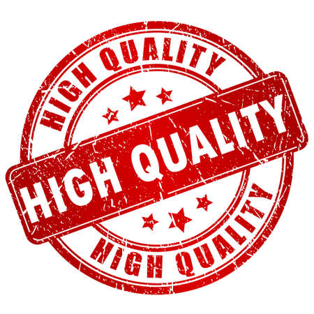 on high: Sello de alta calidad Vectores