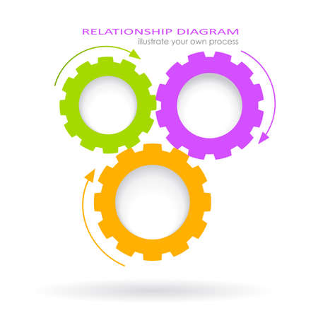 プロセスの関係図  イラスト・ベクター素材