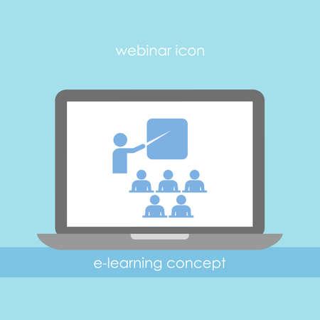 les geven: Webinar icoon Stock Illustratie
