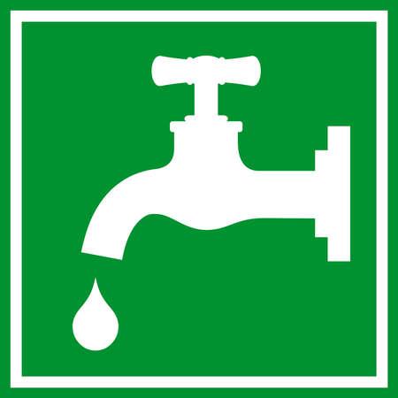 potable: Water tap sign