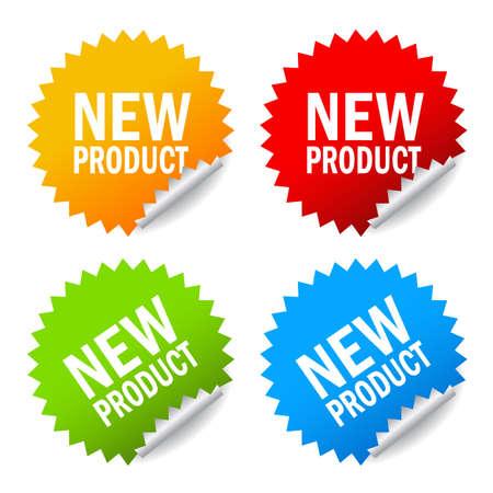 新しい製品のステッカー  イラスト・ベクター素材
