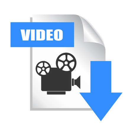 file types: Download video icon