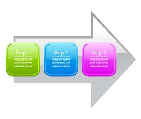 diagrams: Process arrow diagram Illustration