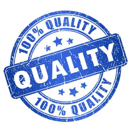 dienstverlening: Quality stempel Stock Illustratie
