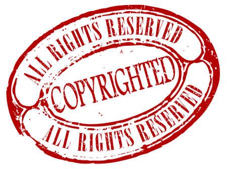 plagiarism: Retro copyrighted stamp Illustration