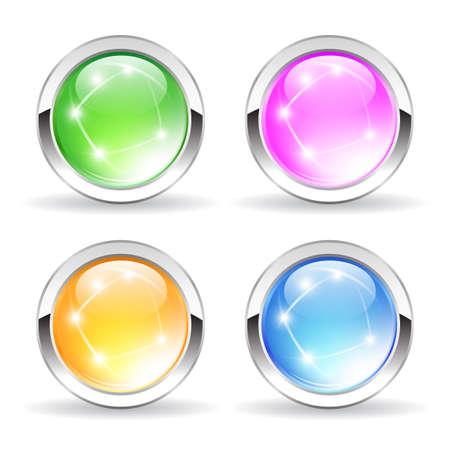 Blank vector buttons Illustration