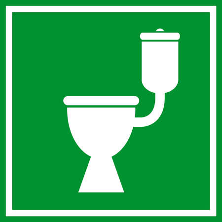 Wc toilet sign Vector