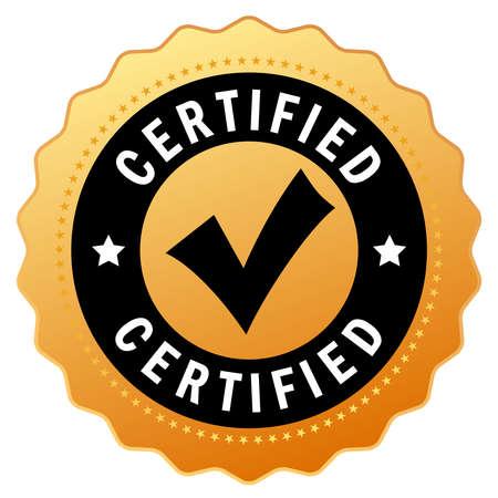 Certifié icône