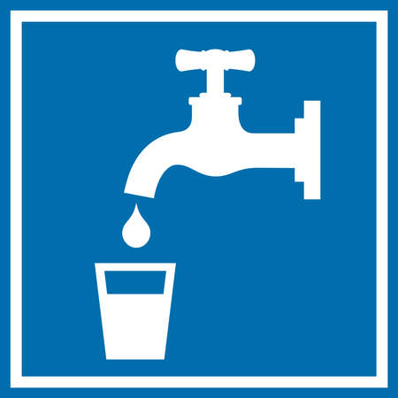 Drinking water sign Vector