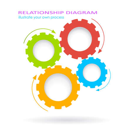 gears: Process gears diagram Illustration