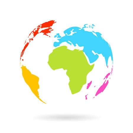 Multicolor icono del globo
