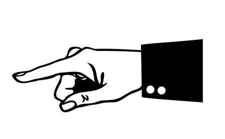 aside: Pointing finger