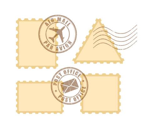 Sello postal en blanco Ilustración de vector