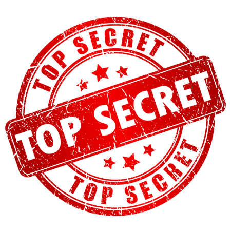 Top secret stempel Stock Illustratie