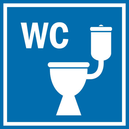 Toilet teken Stock Illustratie