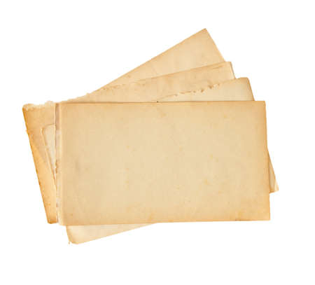 Old papers isolated on white photo