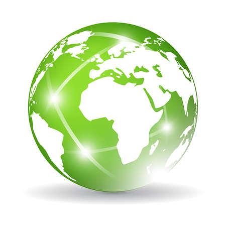 Green glass globe Vector