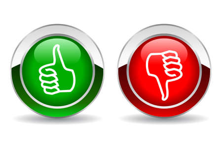 feedback sticker: Thumb up and down button