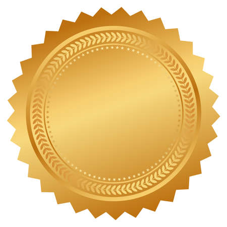 Seal certificate  イラスト・ベクター素材