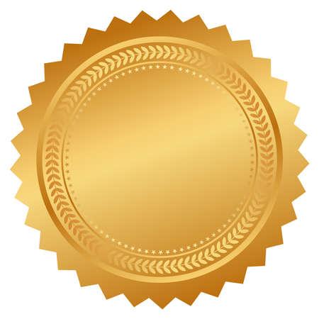 Seal certificate Illustration